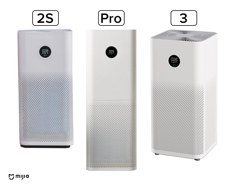 Xiaomi Mi Air Purifier Pro vs 2s vs 3